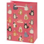Birthday Cat Feline Gift Bag - Happy Purrthday - Medium