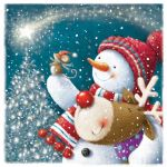 Charity Christmas Card Pack - 6 Cards - Snowman & Reindeer - Ling Design