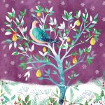 Charity Christmas Card Pack - 6 Cards - Partridge Pear Tree - Ling Design