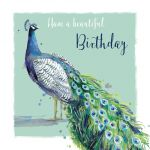 Birthday Card - Peacock - The Wildlife Ling Design