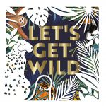 Birthday Card - Sloth Tiger Let's Get Wild - Cut Out - Talking Pictures