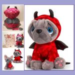 Blue French Bulldog Soft Toy - Devil - Keel - Free Gift Bag