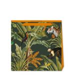 Tropical Cheetah Green Gift Bag - Medium - Creative Lab Amsterdam