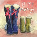 Mother's Day Birthday Card - Mummy - Wellies - Alex Clark
