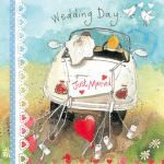 Wedding Day Card - Just Married Car - Alex Clark
