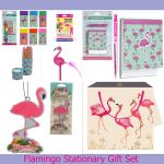 Birthday Mothers Day Gift Set - Flamingo Stationary Set