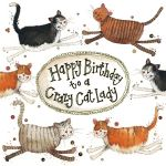 Birthday Card - Crazy Cat Lady - Little Sparkles - Alex Clark