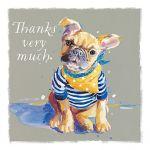 Thank You Card - 5 x Notelets - French Bulldog Dog - Ling Design