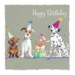Birthday Card - Dogs - Party Time - The Wildlife Ling Design