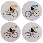 Cycle Works Bike Bicycle Set of 4 Coaster Set