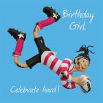 Birthday Card - Female - Birthday Girl Rugby One Lump Or Two