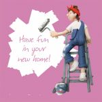 New Home Card - Female - New Home Pink - One Lump Or Two