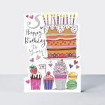 Birthday Card - Girl Kids - Cake & Candles - Die-cut - Star Jumps