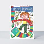 Birthday Card - Boy Kids - 5th Birthday Age 5 Bugs - Die-cut - Star Jumps
