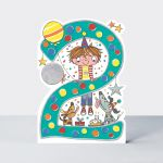 Birthday Card - Boy Kids - 2nd Birthday Age 2 Dogs - Die-cut - Star Jumps