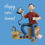 New Home Card - Male - Happy! Kettle - One Lump Or Two