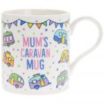 Mum's Caravan White Fine China Novelty Mug - Boxed