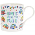 Caravan Home is Where You Park It Fine China Mugs - Set of 6
