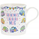 Grandma's Caravan White Fine China Novelty Mug - Boxed