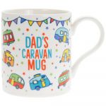 Dad's Caravan White Fine China Novelty Mug - Boxed