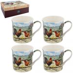 Cockerel & Hen Collection Fine China Mug Gift Set
