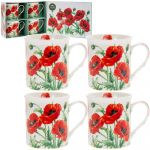 Poppy Field Collection Fine China Mug Gift Set
