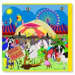 Greetings Card - Music Festival - Sheep - Amy Whelan