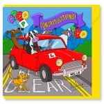 Greetings Card - Just Passed Driving Test Mini - Sheep - Amy Whelan