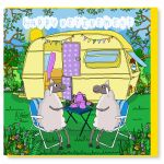 Retirement Card - Happy Caravan - Sheep - Amy Whelan