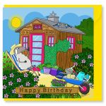 Birthday Card - Garden Shed - Sheep - Amy Whelan