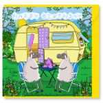 Birthday Card - Happy Caravan - Sheep - Amy Whelan