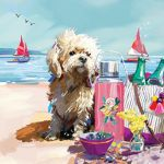 Note Card - 5 x Notelets - Beach Buddy Dog - Ling Design