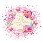 Birthday Card - Wife - Hearts - 3D Glitter - Talking Pictures