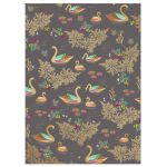 Swan Black & Gold Luxury Gift Wrap Sheet - Sara Miller