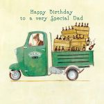 Birthday Card - Dad Delivery - Slice of Life Ling Design