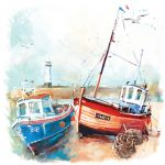 Note Card - 5 x Notelets - Harbour Life Boats - Ling Design