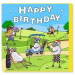 Birthday Card - Golf - Sheep - Amy Whelan