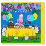 Birthday Card - Cake Off - Sheep - Amy Whelan