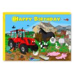 Birthday Card - Farmyard Tractor - Amy Whelan