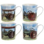 Traction Engine Steam Collection Fine China Mug Gift Set