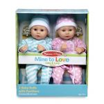 Melissa & Doug Mine to Love Twin Dolls - Luke & Lucy -15""