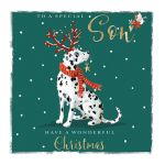 Christmas Card - Son - Dalmatian Dog - Xmas Helper - The Wildlife Ling Design