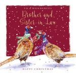 Christmas Card - Brother & Sister in Law - Pheasants - The Wildlife Ling Design