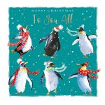 Christmas Card - To You All - Penguin - The Wildlife Ling Design