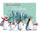 Christmas Card - Penguins Xmas Tree - The Wildlife Ling Design