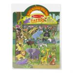 Melissa & Doug Safari Reusable Puffy Stickers - 42 Stickers
