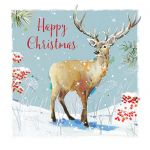 Charity Christmas Card Pack - 6 Cards Winter in the Forest Stag - Ling Design