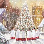 Charity Christmas Card Pack - 6 Cards - Carols Around the Tree - Ling Design