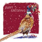 Luxury Christmas Cards Pack - 10 Cards Winter Pheasant - Ling Design