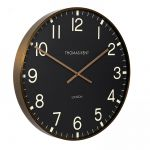 "21"" 53cm Clocksmith Large Wall Clock Black Brass - Thomas Kent"